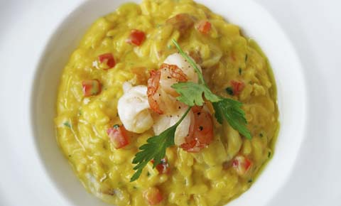 Pumpkin Shrimp Risotto