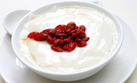 Homemade Fine Beancurd With Wolfberry